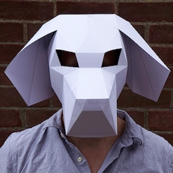 Designer Steve Wintercroft has created a series of brilliant 3d mask templates that can be easily assembled at home.