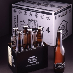 Work Labs in Richmond Virginia is currently planning the relaunch of their Work Beer. Excellent branding and packaging. A beer for the Workers of the World.