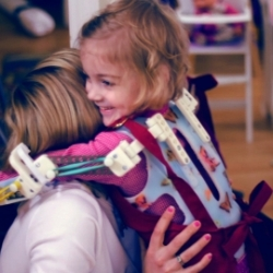 2yr old Emma had a condition called arthrogryposis, which meant she couldn't move her arms. So researchers at a Delaware hospital 3D printed a durable custom exoskeleton with the tiny, lightweight parts she needed.