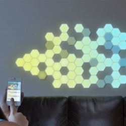 Designed by Debra Courtenay, Wallbrights are a phone-controlled lighting solution which combines goodness of wall decals with beauty of LEDs.