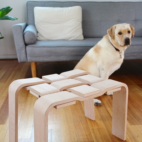 Australian furniture design company Nice for Nice has combined solid timber and the weaving processes to create the Warp & Weft stool. It's on show at Furnitex Brisbane this weekend.