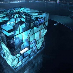 MVRDV's pavilion for the World Expo 2012 will have H20 filled aquarium tank walls shaped like the Earth's continents!