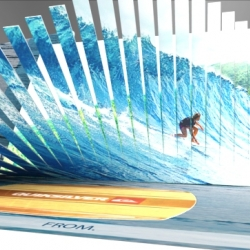 Surf Inspired Packaging Design, 3D diecut wave gift card concept developed by Design Packaging - ready for Summer!