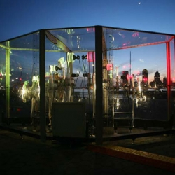 Weather Beacon: Kinetic outdoor sculpture by Eric Guzman translates weather data into art.