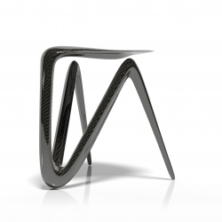 Plum Stool Design, Carbon Fiber Furniture.