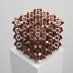 Neat penny art by Robert Wechsler for sale at new online gallery COINTEMPORARY, which only shows works for 8 days, and only takes purchases via bitcoin.