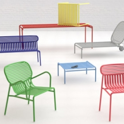 Weekend is a collection of outdoor furniture designed by Caroline Ziegler and Pierre Brichet.