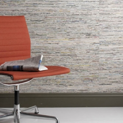 Weitzner Limited makes great wallpaper from recycled newspapers.