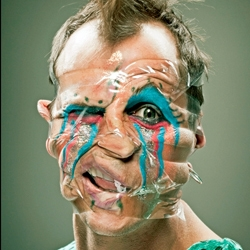 Photographer Wes Naman's newest Scotch Tap Series where he contorts and manipulates the human face.