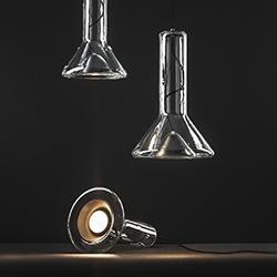 Whistle, light by Lucie Koldova for Brokis: a new story in the playful sensuality of the glassblower.