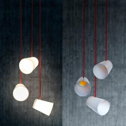 White Glass, a minimal pendant light made out of mouthblown glass and COB leds. By Gonzalez Garrido.