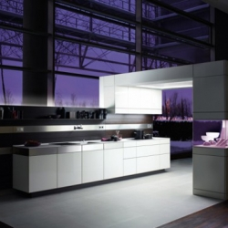 This kitchen design was designed by Poggenpohl in collaboration with German architect, Hadi Teherani. The kitchen will be available at retails in January 2011.