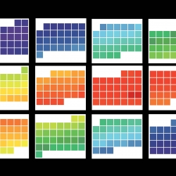 2010 Calender! The colors are specific to the average daily temperature in Atlanta!