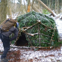 LEARN how to build a GEODESIC DOME from twigs! Part of the 100 Wild Huts project.