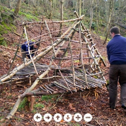 WILDNESS - Learn how to build a Wilderness Shelter through these inspirational 360 degree VIRTUAL TOURS - Part of the 100 Wild Huts project.