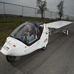 Mark Muller's dream of 40, 0000Km trip around the world without emitting even a single gram of Co2 got wings when he designed Wind and solar powered car.