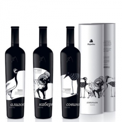 Awesome wines packaging that free of stock styles and trends from Nadie Parshina. For example the Karadag Wine: to bring attention to the disappearing fauna living in Karadag, a natural conservation in Crimea, Ukraine.