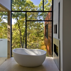 Beautiful view from the Wissioming Residence designed by Robert Gurney Architect located in Glen Echo, Maryland.