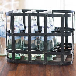 With Wisteria's  Metal Twelve-Bottle Carrier you can carry twelve bottles of whatever - wherever.