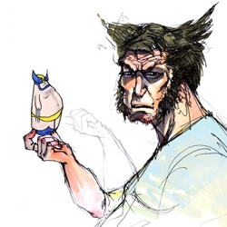 Something inside me broke and now I can't stop drawing Wolverine. Wolverine Daily blog.
