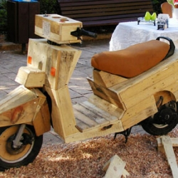 Groovy Danit & Yinnon Simhi run Studio Groovy in Israel.  They built a wooden Vespa.  I don't really know what else to say.
