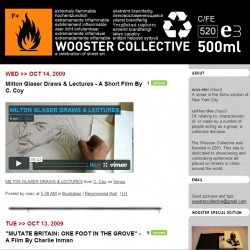 Wooster Collective's new masthead by Stencil Terrorists.