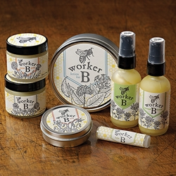 Beautiful letterpress printed labels for natural balms and lotions made from beeswax and a few other selected ingredients. Made in small batches in Minneapolis by Angel Bomb Design.