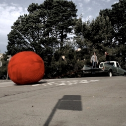 6 ft. ball of yarn rolls through San Francisco with a surprise inside