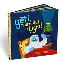 Yeti, Turn Out The Light! Beautifully illustrated new children's bedtime book featuring a skittish Yeti, a Chronicle Books + GAMAGO project.