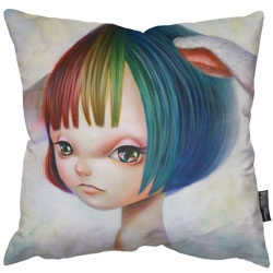 Beautiful new Limited Edition prints and pillows from Japanese pop surrealist artist Yosuke Ueno.