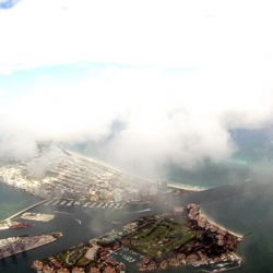 Look out! FPV (video piloted) flight with my 60'' Zephyr in Sunny South Florida.