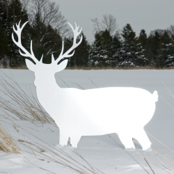 Bring the Great Canadian outdoor inside your house with this giant metal deer by TAKTIK designers