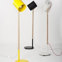 Workroom Design's NEW 'Lean' lamp is built with symmetry and balance in mind. The shade is spun metal, and comes in a range of colours. The fabric flex cord weaves through the American Ash stand.