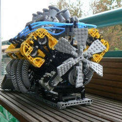 Brilliant! Functional V8 engine out of LEGOs.
