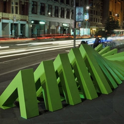MÖBIUS - A stop motion sculpture animated throughout Melbourne's Federation Square by ENESS