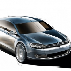 The official design story of the Golf VI, with several design sketches. Developed by Walter de Silva, the design was sharpened and realigned to the brand's new styling criteria.