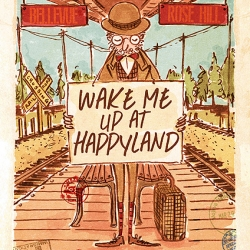 """Wake Me Up At HappyLand"" is a short, (almost) wordless picture-book about a man traveling the world in search of HappyLand."