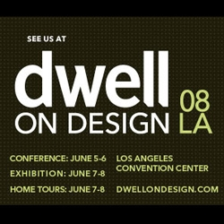 Dwell On Design is coming to LA June 5th... and they've hooked up NOTCOT readers with free passes to the exhibition, and a discount on the conferences! See you there?