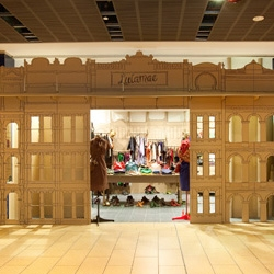 Breathe Architecture have created a cool cardboard pop-up boutique for fashion label Lulamae.