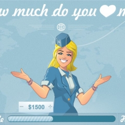 A beautiful HTML5 site to help you discover travel this Valentine's Day. How much do you <3 me?