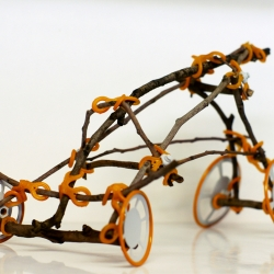 Twigo, construction toy designed for building with branches. By Shlomi Eiger.