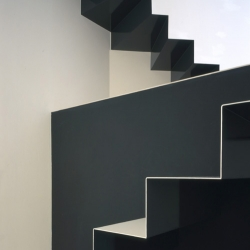 the w house from alpha architects in kyoto japan: working up and down to save space the husband and wife architecture team created a seamless but ridged minimalist flow with one of the greatest staircases i've seen...