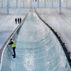 Siemens builds 75-metre-long rotor blades -- the world's largest -- from a single mould.