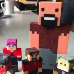 Create your own Minecraft cubic coolness for real with Minetoys and Shapeways bringing your avatars to life.