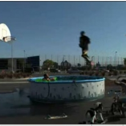 After jumping over a moving Aston Martin for Nike, Kobe Bryant, accompanied by the Jackass crew,  jumps over a pool of snakes. Pretty impressive.