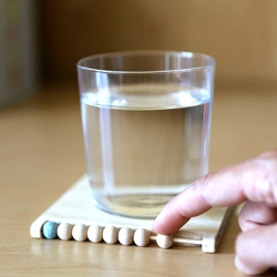 The DIY Abacus Coaster helps you keep track of your daily liquid intake. Finally, a coaster you can count on.