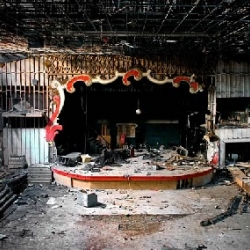 Stages of Decay by Julia Solis-- beautiful photographs of abandoned theatres, ballrooms, movie palaces, and other such monuments to life and pleasure, now ravaged by time.