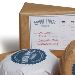Cute packaging by Abby Brewster for Bridge Street Fromagerie.
