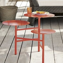 West Elm Layered Side Table - cute in Poppy. Powder-coated steel with minimal assembly.