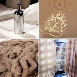 Absolut Art Collection ~ a few pieces took over a suite at the Lydmar Hotel in Stockholm, and while the pieces are fun, the way they are installed and interacting with the room are fascinating! (quick vid too!)